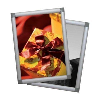 cadre clic clac alu angle plastique